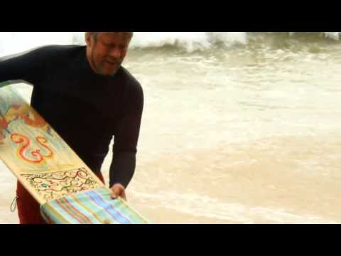 Tom Wegener gets a wave on Surfie surfboard alaia