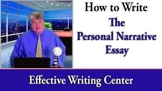 How to Write the Narrative Essay
