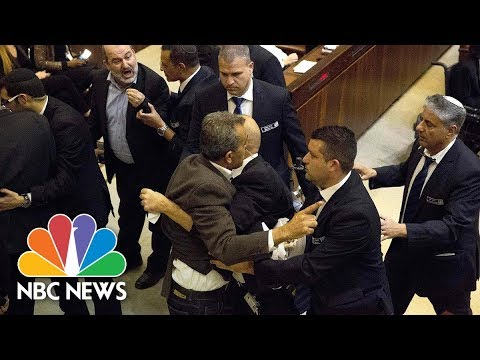 Arab Lawmakers Protest As Vice President Mike Pence Delivers Speech To Knesset | NBC News