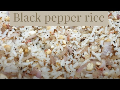 Black pepper rice!Pepper rice with clarified butter!Quick and easy recipe!Variety rice