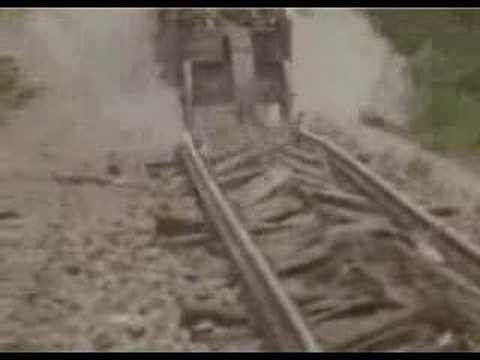 This Train Destroys Its Own Tracks