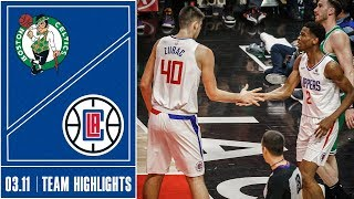Clippers Vs. Celtics Game Highlights | 3/11
