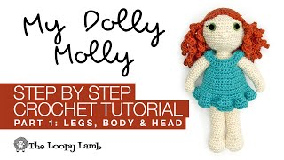 My Dolly Molly Crochet Along Part 1 - Free Crochet Doll Pattern