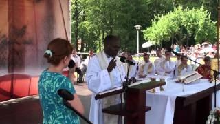 preview picture of video 'o.John Bashobora Zembrzyce 2012 06.30 msza św.'
