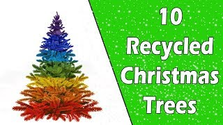10 Recycled Christmas Trees - Ecobrisa DIY