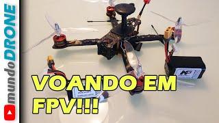 DRONE FPV BOM e BARATO 2020 - VOANDO NO FPV