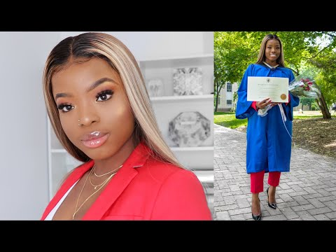 GRWM GRADUATION 2019: Neutral Makeup Beat + Honey Blonde Wig with Highlights + Outfit
