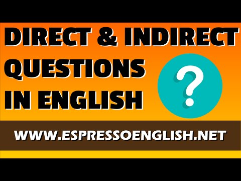 Direct and Indirect Questions in English