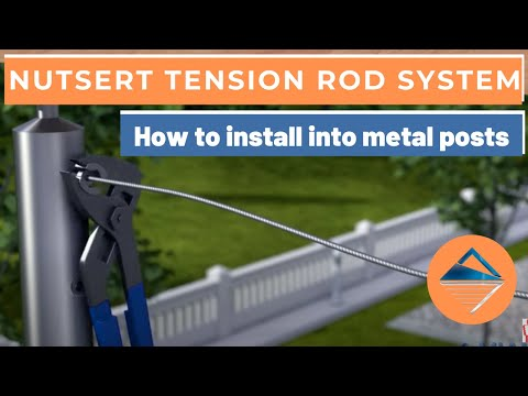 How To Install Wire Balustrade - Nutsert Tension Rod System