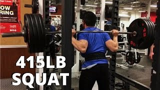 415LB Attempt (1RM) On Squat | Set Gone WRONG?