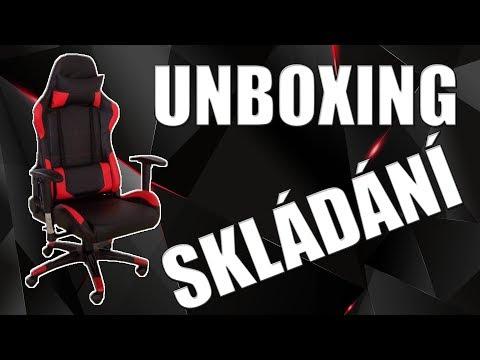 Nové židle   UNBOXING A SESTAVENÍ RACING PRO ZK-012   CZ/SK