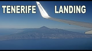 TENERIFE LANDING - CANARY ISLANDS  4K