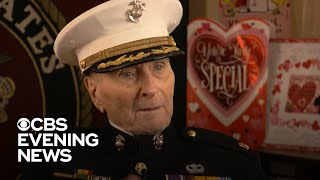 Strangers surprise 104-year-old Marine with thousands of Valentine's Day cards