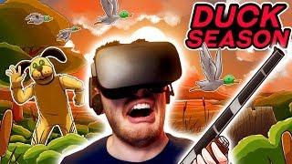 THIS GAME GETS REALLY CREEPY! (Duck Season Oculus Rift)