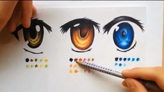 How to color using colored pencils (manga eyes )