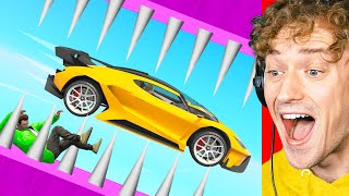 The *IMPOSSIBLE* Dropper Race! (GTA 5 Funny Moments)