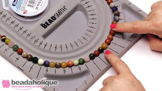 How To Use A Beading Board To Make A Strung Necklace From Start To Finish