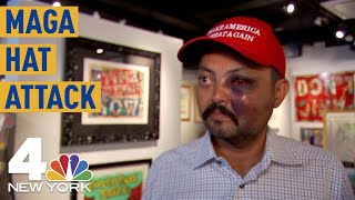 MAGA Hat Attack: NYC Gallery Owner Says Mob of 'Kids' Beat Him Over Trump Support | NBC New York