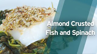 Recipe: Almond Crusted Fish and Spinach
