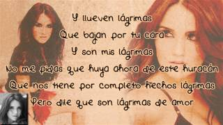Dulce Maria feat. Julion Alvarez - Lagrimas (letra/lyrics)
