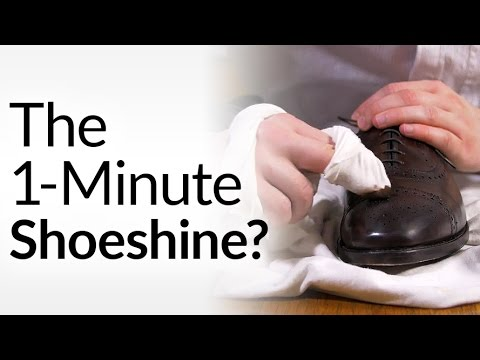 Shine Up A Pair Of Dress Shoes In Only A Minute With This Technique