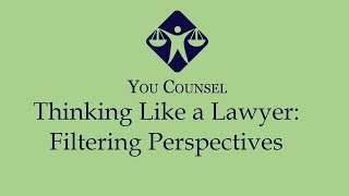 How to think like a Lawyer: Filtering Perspectives