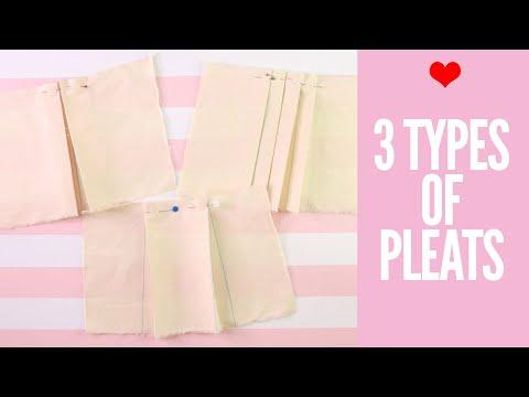 How to Sew Pleats | Box Pleat, Knife Pleat, Inverted Box Pleat