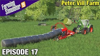 MAKING GRASS SILAGE Farming Simulator 19 Timelapse - Peter