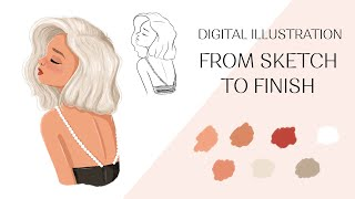 How I Use Procreate For Digital Illustration   Character Drawing