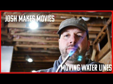 Moving Water Lines. DIY Plumbing