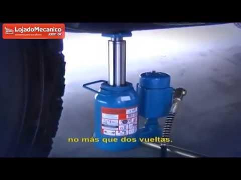 Macaco Tipo Garrafa MTP-30 Hidro Pneumático 30 Toneladas - Video