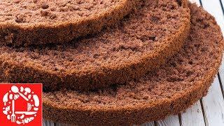 Шоколадный бисквит! Самый простой рецепт!