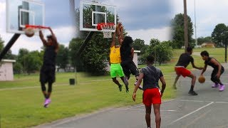 (MUST SEE) INTENSE 2 V 2 Basketball Game Against TOP HIGH SCHOOL PLAYERS!!