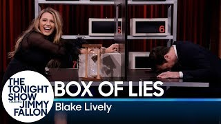 Blake Lively and Jimmy take turns trying to stump each other about what items are hidden inside their mystery boxes.  Subscribe NOW to The Tonight Show Starring Jimmy Fallon: http://bit.ly/1nwT1aN   Watch The Tonight Show Starring Jimmy Fallon Weeknights 11:35/10:35c   Get more The Tonight Show Starring Jimmy Fallon: https://www.nbc.com/the-tonight-show   JIMMY FALLON ON SOCIAL Follow Jimmy: http://Twitter.com/JimmyFallon Like Jimmy: https://Facebook.com/JimmyFallon Follow Jimmy: https://www.instagram.com/jimmyfallon/   THE TONIGHT SHOW ON SOCIAL Follow The Tonight Show: http://Twitter.com/FallonTonight Like The Tonight Show: https://Facebook.com/FallonTonight Follow The Tonight Show: https://www.instagram.com/fallontonight/ Tonight Show Tumblr: http://fallontonight.tumblr.com   The Tonight Show Starring Jimmy Fallon features hilarious highlights from the show, including comedy sketches, music parodies, celebrity interviews, ridiculous games, and, of course, Jimmy's Thank You Notes and hashtags! You'll also find behind the scenes videos and other great web exclusives.   GET MORE NBC NBC YouTube: http://bit.ly/1dM1qBH Like NBC: http://Facebook.com/NBC Follow NBC: http://Twitter.com/NBC NBC Instagram: http://instagram.com/nbctv NBC Tumblr: http://nbctv.tumblr.com/   Box of Lies with Blake Lively http://www.youtube.com/fallontonight  #FallonTonight #BlakeLively #JimmyFallon