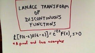 Laplace Transform Involving Heaviside Functions