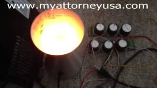 Energy from Tesla Coil