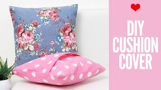 DIY Cushion Covers & Pillow Covers   How To Make A Pillow REALLY Fast