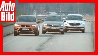 VW Tiguan vs. Seat Ateca und Skoda Kodiaq (2017) Vergleich / Review