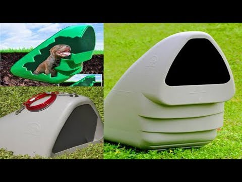 Underground Dog House Keeps Them Comfortable In Hot Or Cold Weather