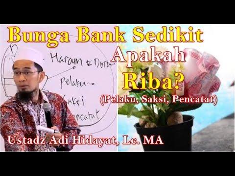 Bunga Bank Sedikit termasuk Riba? Ustadz Adi Hidayat, Lc.| Bunga Bank Kecil saksi pelaku makan Riba?