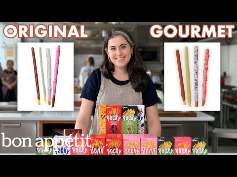 Download Pastry Chef Attempts to Make Gourmet Pocky | Gourmet Makes | Bon Appétit Mp4 HD Video and MP3