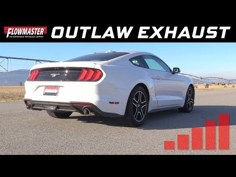 2015-20 Ford Mustang 2.3L, 3.7L - Outlaw Axle-back Exhaust System 817713