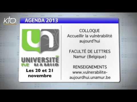 Agenda du 15 novembre 2013