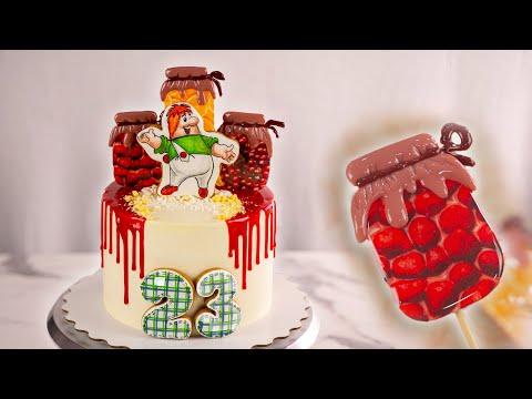 Как оформить мужской торт с Карлсоном