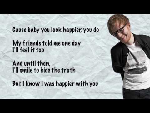 Ed Sheeran  Happier Lyrics (видео)