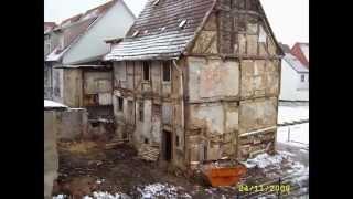 preview picture of video 'Quedlinburg Dovestraße 5 Sanierung  (Erbaut um 1650)'
