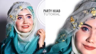 Most Requested Hijab Tutorial For Wedding/ Parties    Sanji Da 💙