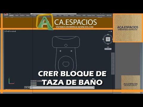 TAZA DE BAÑO  WC - BLOQUE AUTOCAD