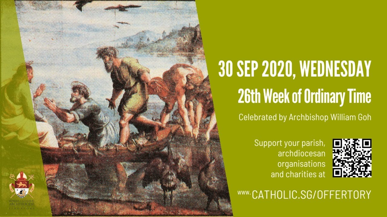 Catholic Mass Today Online 30th September 2020, 26th Week of Ordinary Time 2020