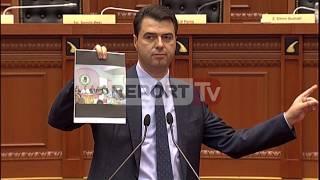 Report TV - Rama, Basha, Balla Politikë Në Parlament Me Foto Kriminelësh